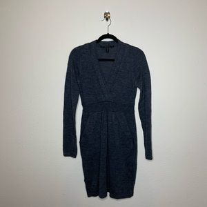 BCBGMaxAzria Gray Wool Sweater Dress